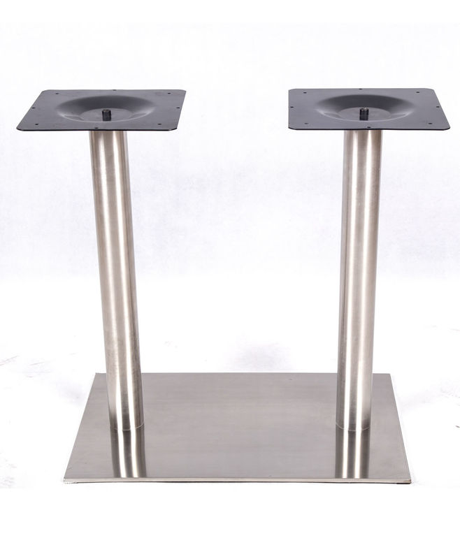 Stainless Steel Table Legs  Square Chrome Table Base Kitchen Commercial Furniture