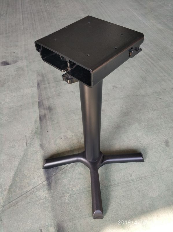 Metal Restaurant Table Legs / Flip Top Table Legs Space Saving Storage Folding Table Bases